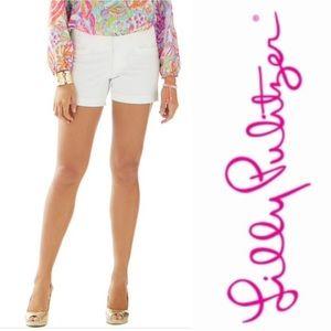 Lilly Pulitzer White 5 inch Carina Shorts Size 0